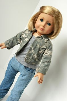 American Doll Clothing  Military Style Jacket  by ShimmerMyst, $16.95 - Super cute!! Go Army!