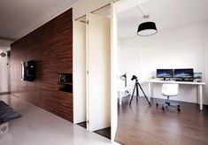 This open-concept project by White Space Living is spacious, stylish and sleek. Here's how you can achieve this look. Interior Design Website, Home Interior Design, Interior Designing, Interior Ideas, Door Design, House Design, White Brick Walls, Diy Home, Open Concept Kitchen