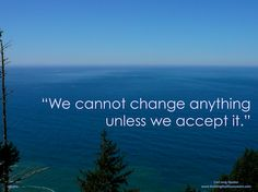 """""""We cannot change anything unless we accept it."""" ~Carl Jung"""