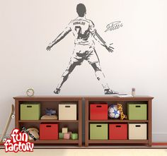 Cristiano ronaldo wall decal sticker real by fundecalfactory wall cristiano ronaldo v2 wall decal sticker real by fundecalfactory voltagebd Choice Image