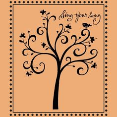 Sing your song birdie in a swirly tree -