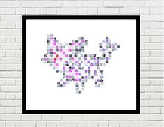 espeon art, espeon poster, pokemon art, espeon print, pokemon print, game art, video game, eevee, eevee evolution, pokemon poster, pixel art, espeon pixel art, pokemon by PixelDesignsUP