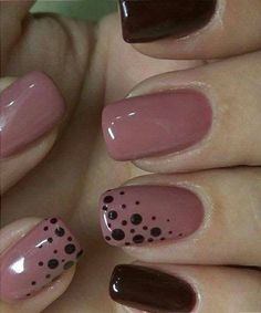 Fabulous Pink and Blood Red Dotted Nail Art Designs .- Fabulous pink and blood red dotted nail art designs nail art - Red Nail Designs, Creative Nail Designs, Creative Nails, Fingernail Designs, Simple Nail Designs, Pink Nails, My Nails, Pink Shellac, Black Nails