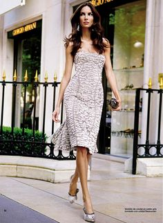 Spanish model, Eugenia Silva, (who has degree in law), for Armani