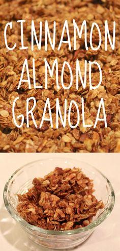 Cinnamon Almond Granola Recipe--making homemade granola is easy and SO delicious!