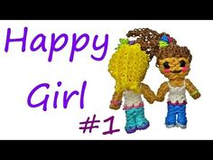 Happy Girl #1 Tutorial by feelinspiffy (Rainbow Loom) - YouTube