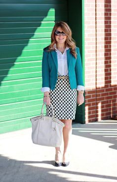Mix and Match Fashion: Teal, Dots, and Birds #style #fashion +++For tips and advice on #trends and fashion, Visit http://www.makeupbymisscee.com/