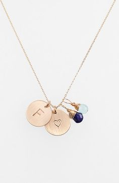 Nashelle F Initial Disc Necklace Charm Gold 2Zprq8Es6