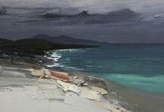 Chris Bushe RSW - November Tide - Winter Sky, Scarista