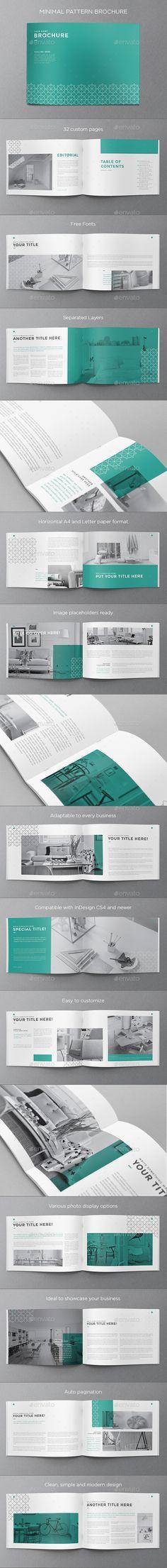 Minimal Pattern Brochure Template #design Download: http://graphicriver.net/item/minimal-pattern-brochure/12751211?ref=ksioks
