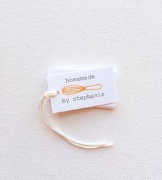 Homemade Food baker's Tags. Custom personalized by PrintSmitten, $12.00