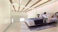 Dormitorio de apartamento con diseño moderno y funcional.