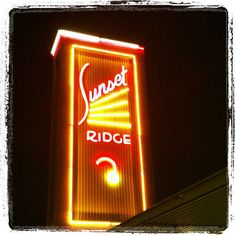 The vintage neon sign for the Sunset Ridge Shopping Center in San Antonio, Texas. by MOLLYBLOCK, via Flickr
