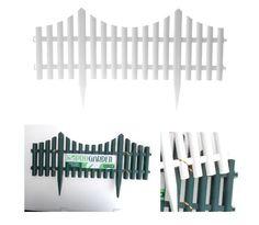 Beeteinfassung Beetumrandung Weiß oder Grün Lattenzaunoptik Länge ca. 7,2 Meter