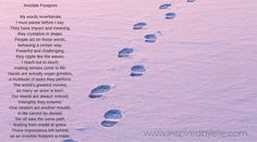 """Invisible Footprint"" is a poem expressing that each one of us has an impact, we all contribute to the planet. Sometimes, we forget that our actions connect to others, no matter how small that deed :) For more poetry and inspiration, please take a look at my website: https://www.inspiredbyelle.com  #Poetry #Poem #Life #Inspiration #InspiredByElle"