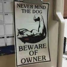 Never Mind the dog. Beware of the owner. - Recherche Google