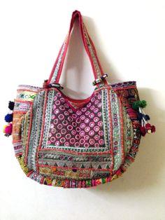 Vintage banjara bag boho gypsy tribal ethnic tote shoppers extra large size zari embroidery