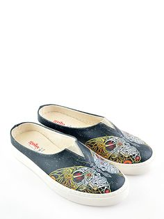 Goby Skull Print Slip-On Sneaker Skull Print, Casual Chic Style, Vans Classic Slip On, Comfy, Sneakers, Shoes, Fashion, Tennis, Moda