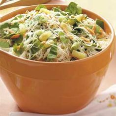 Rice Noodle Salad - remember to get GF soy sauce. :)