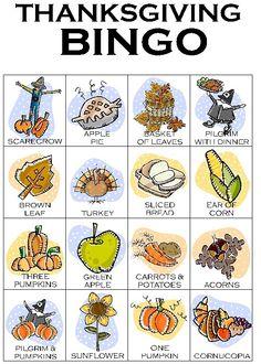 Free Thanksgiving Activities for Preschoolers | ... , FTW!: Holiday Activities: Thanksgiving Bingo and Math Practice