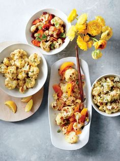 Folks can't seem to get enough of cauliflower's mid, slightly nutty flavor. Here we offer 4 fast and delicious ways to enjoy it: Roasted ...