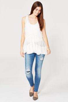 5d94b3d570 Vila Holiday Sleeveless Top - Off-White - Vila - Womens - Brands