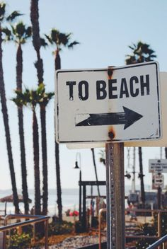 To the beach.