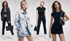 Alexander Wang Denim x AW 2018 Lookbook Fall Winter presents exclusive classic chic denim wear, jeans, dress, jacket, handbag, ankle boots