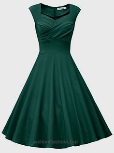 MUXXN Women Classy Sleeveless Ruched Fit and Flare Cocktail Dress (S Dark Green) BUY NOW $59.99 Note: The pure color meterial is slightly more stretchy than the floral print and polka dot print. Size Information S: BUST: 33.07″-34.64″ WAIST: 24.80″-26 ..
