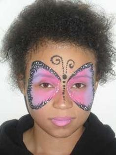 butterfly face painting, face