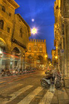 Evening in Bologna ~ Emilia-Romagna,  Italy