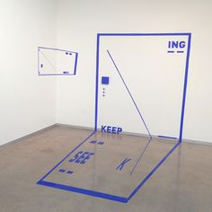 Seek See Keep - ING  4.5' x 8'  Installation by Liyuan Tong
