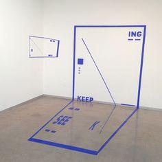 Seek See Keep - ING 4.5' x 8' Installation by Liyuan Tong