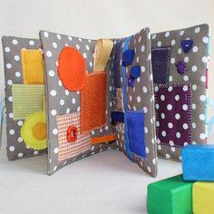 Sensory Quiet Book, Baby Busy Book, Montessori, Waldorf, Baby Quiet Books, Sensory Toys, Busy Bags, Montessori Baby toys