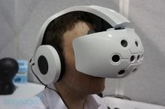 A virtual reality helmet with Android 4.0  ( I Want One Now!  )
