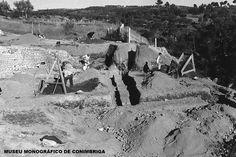 Aspecto da palestra das Termas do Sul durante os trabalhos de escavação, c. 1950
