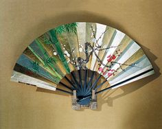 per prior pinner:  I love beautiful Japanese fans. This one is hand-painted.