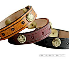 Add some style to your outfit with this Golden Flower Cuff Bracelet! #LeatherBracelets #TheLeatherSmithy