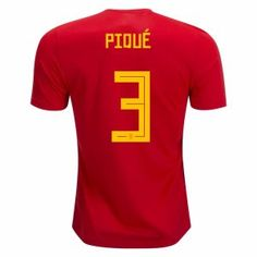 2018 Spain Pique World Cup Home Jersey [L749]