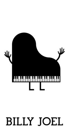 Minimalist Billy Joel poster.