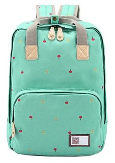 AINISI Girls Youth Casual Grass green Canvas Travel Backpack Bookbags AINISI http://www.amazon.com/dp/B00VJFGFVS/ref=cm_sw_r_pi_dp_1abUvb0J8GT55