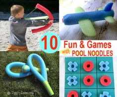 Fun and Games With Pool Noodles ... on ZiggityZoom Living