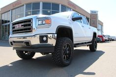 GMC Sierra white lifted