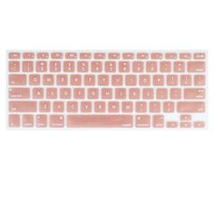 """Rose Gold Silicone keyboard cover for MacBook Pro 13"""""""