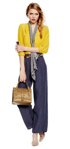 Zimmermann Silk Lace Back Blazer in Citrine, featured as Who What Wear's Look of the Day
