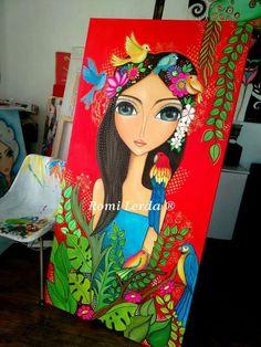 Super Ideas For Art Drawings Girl Indian Art Beat, Madhubani Painting, Amazing Street Art, Unicorn Art, Mandala Art, Cute Art, Watercolor Art, Modern Art, Art Drawings