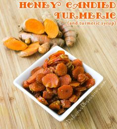 How to Make #Honey Candied #Turmeric and Turmeric Syrup // deliciousobsessions.com #realfood #paleo #primal #herbs