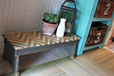 Robb Restyle: Chevron Painted Bench Restyle
