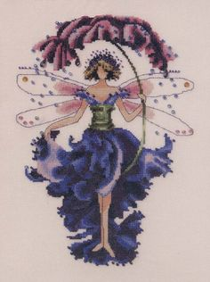 Pansy-Spring Garden Pixie Cross Stitch Kit Embroidery Patterns by Nora Corbett Cross Stitch Fairy, Cross Stitch Angels, Cross Stitch Flowers, Cross Stitching, Cross Stitch Embroidery, Embroidery Patterns, Cross Stitch Designs, Cross Stitch Patterns, Stitch And Angel