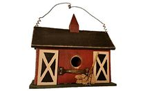 Barn Birdhouse- Wooden Birdhouses - Birdhouses For Outside - Birdhouses Decorative - Chickadee Birdhouse - Finch Birdhouse - Wren Birdhouse - Painted Birdhouse - Country Birdhouse